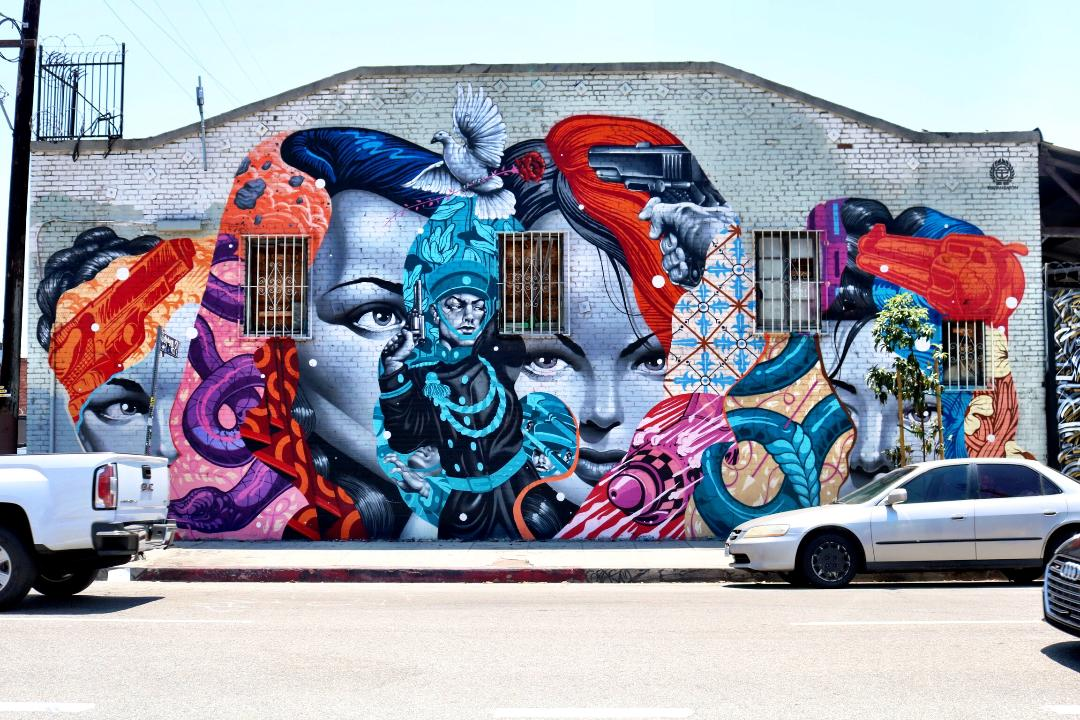 Street Mural outside of Montana Shop LA